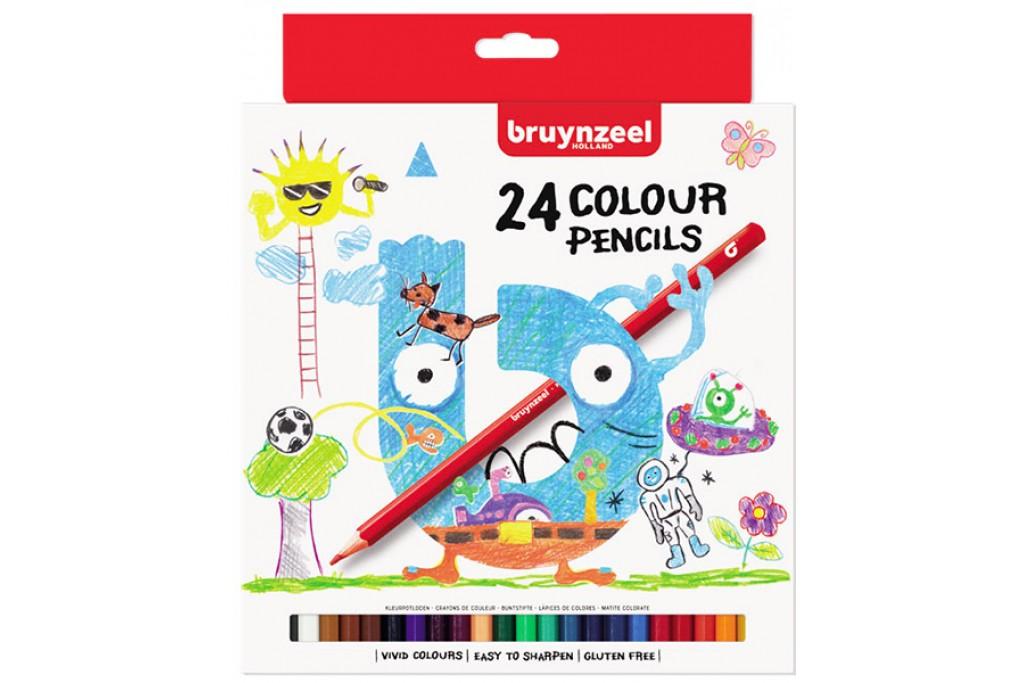 Набор детских цветных карандашей Bruynzeel 24 цвета картонная коробка