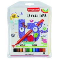 Набор детских фломастеров Bruynzeel 12цв картон