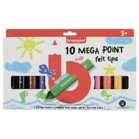 Набор детских фломастеров Bruynzeel MEGA POINT 10цв картон