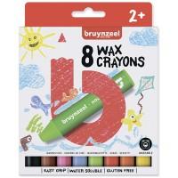 Набор детских восковых карандашей Bruynzee экстра толстые 8цв картон