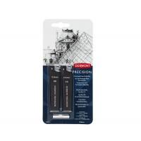 Грифели для механических карандашей Derwent 0.5 мм HB + 2B по 15 шт + ластик 3 шт
