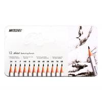 Набор графитных карандашей Marco Raffine 12 шт метал