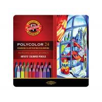 Набор цветных карандашей Koh-i-Noor Polycolor 24цв. метал