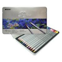 Набор цветных карандашей Marco Raffine 12цв. метал