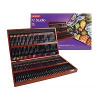 Набор цветных карандашей 72 цв., дерево, Studio, Derwent