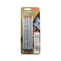 Набор карандашей для рисунка Derwent Traditional Metallic 6цв. метал