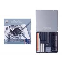 Набор для графики Cretacolor Black White 25 предм. метал