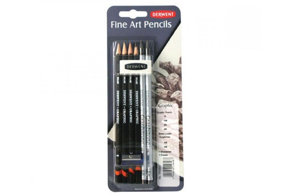 Набор графитных карандашей Derwent Graphic 8 предметов блистер