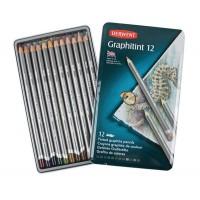 Набор графитовых водораствор. карандашей 12шт, метал, Graphitint, Derwent