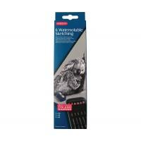 Набор графитовых водораствор. карандашей 6шт, метал, Sketching, Derwent