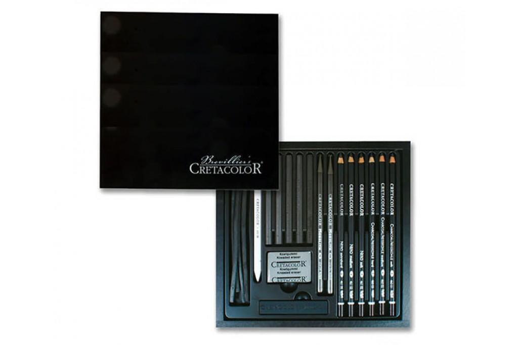 Набор карандашей для рисунка Cretacolor Black Box 20 предметов деревянный пенал