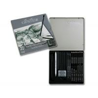 Набор карандашей для рисунка 20 пред., метал, Black Box, Cretacolor