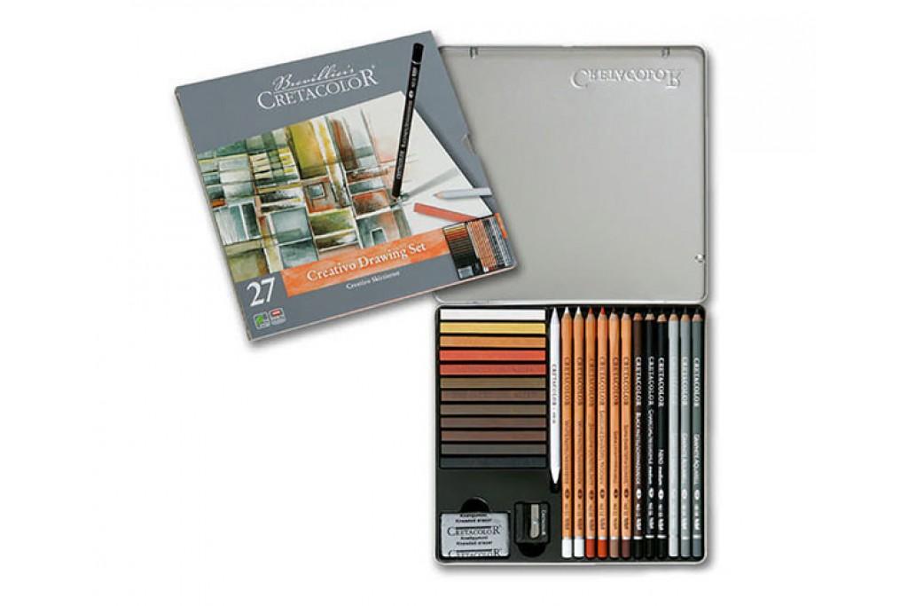 Набор карандашей для рисунка Cretacolor Passion Box 27 предметов металлический пенал