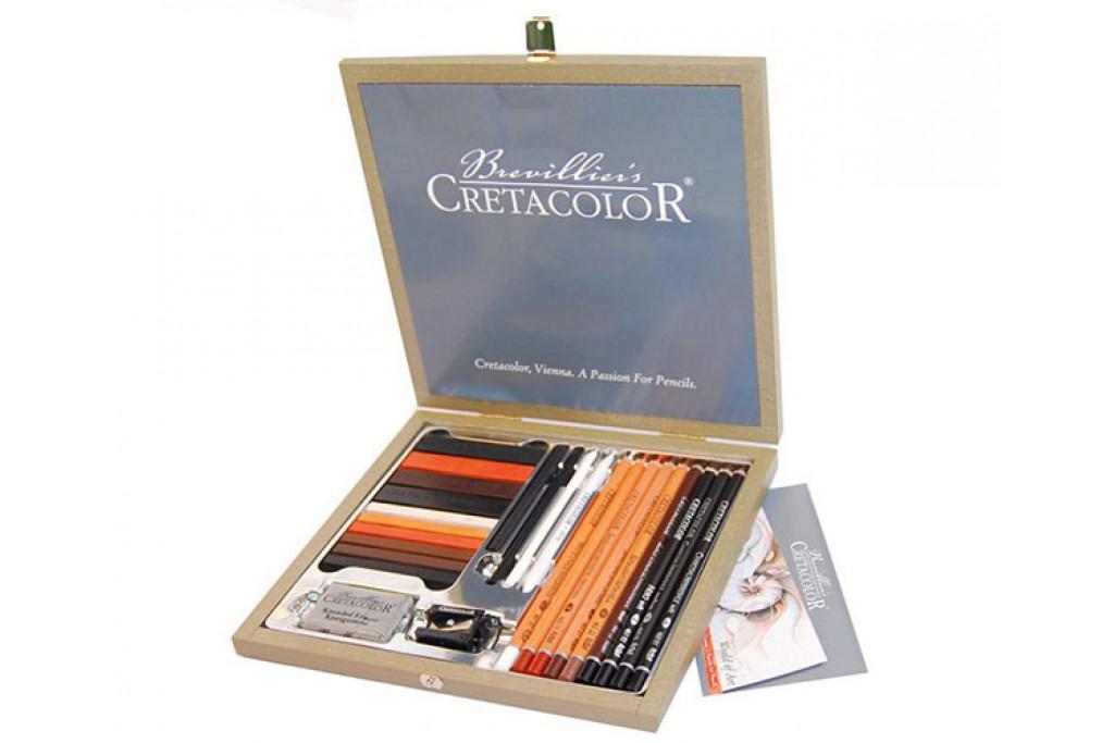 Набор карандашей для рисунка Cretacolor Passion Box 25 предметов деревянный пенал