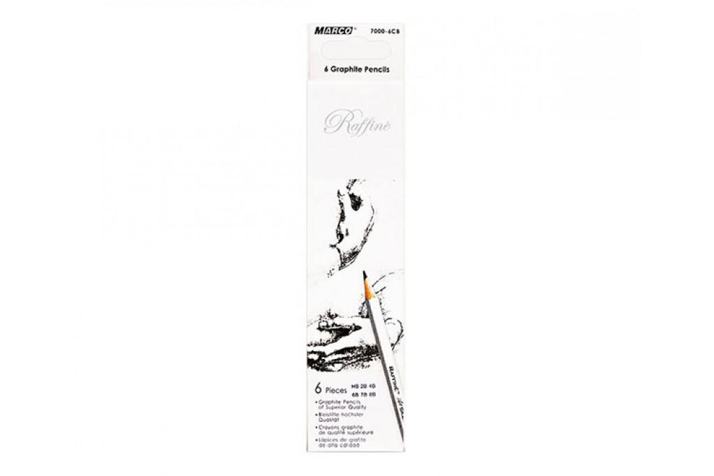 Набор графитных карандашей Marco Raffine НВ-8В 6 шт