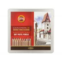 Набор пастельных карандашей Koh-i-Noor Gioconda 24цв. метал