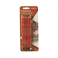 Набор восково маслянных карандашей Derwent Drawing 6цв. блистер