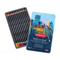 Набор цветных карандашей Derwent Procolour 12цв. метал