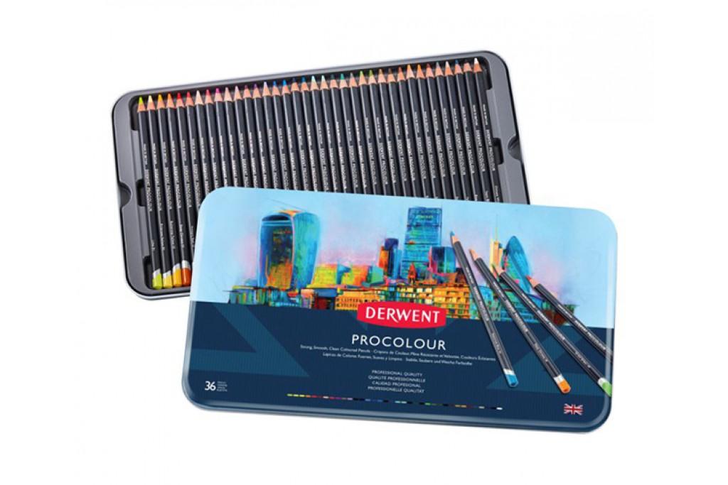 Набор цветных карандашей Derwent Procolour 36 цветов металлический пенал