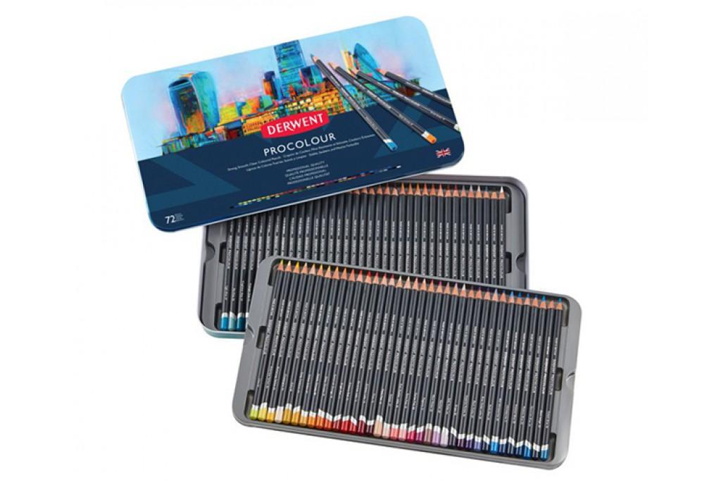 Набор цветных карандашей Derwent Procolour 72 цвета металлический пенал