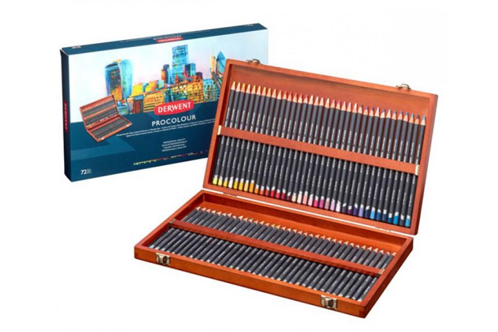 Набор цветных карандашей Derwent Procolour 72 цвета деревянный пенал