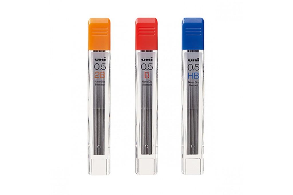 Грифели для механических карандашей Uni Nano Dia 12 шт