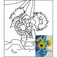 Холст на картоне с контуром, Натюрморт № 8, 30x40, хл., акрил.гр., Этюд