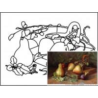 Холст на картоне с контуром, Натюрморт № 11, 30x40, хл., акрил.гр., Этюд
