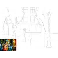 Холст на картоне с контуром, Пейзаж № 12, 30x40, хл., акрил.гр., Этюд