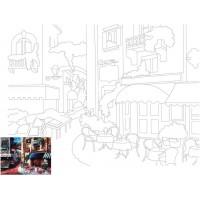 Холст на картоне с контуром, Пейзаж № 13, 30x40, хл., акрил.гр., Этюд