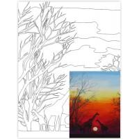 Холст на картоне Rosa с контуром Пейзаж № 24 30 x 40 см