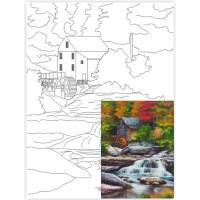 Холст на картоне Rosa с контуром Пейзаж № 26 30 x 40 см