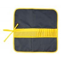 Пенал для кистей тканевый, асфальт-жёлтый, 37х37 см, Rosa