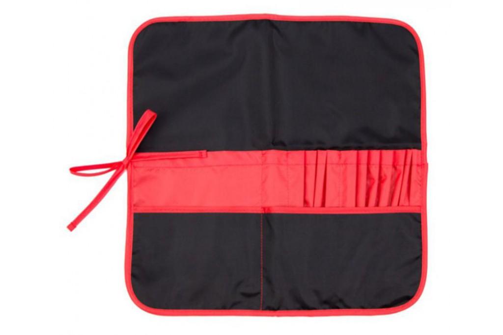 Пенал для кистей тканевый Rosa черный красный 37х37 см