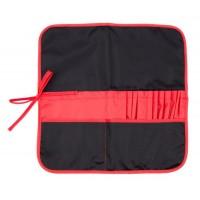 Пенал для кистей тканевый, черный-красный, 37х37 см, Rosa