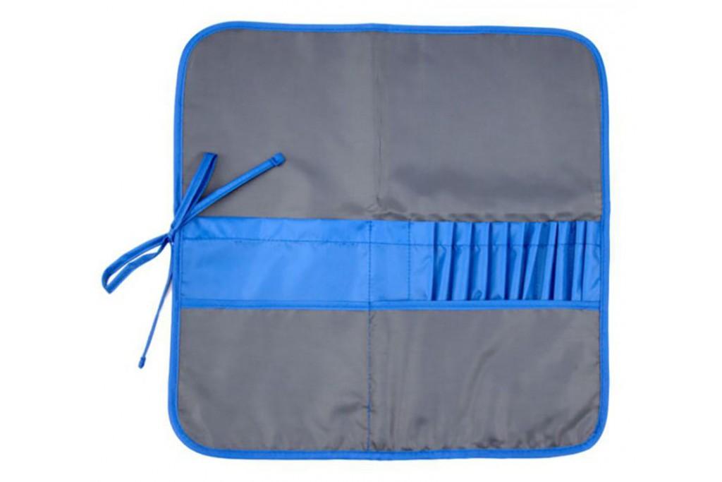 Пенал для кистей тканевый Rosa асфальт синий 37х37 см
