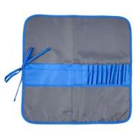 Пенал для кистей тканевый, асфальт-синий, 37х37 см, Rosa