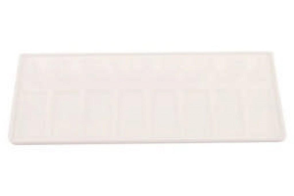 Палитра пластиковая прямоугольная 11х30 см