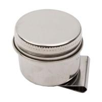 Маслёнка одинарная металлическая с крышкой 3,6х2,0см