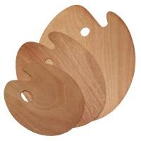 Палитра деревянная овальная Китай