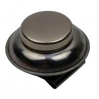 Маслёнка одинарная металлическая с крышкой d:6см