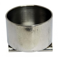 Маслёнка одинарная металлическая d:6,1х3,9см