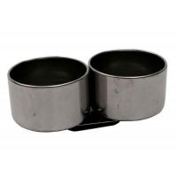 Маслёнка двойная металлическая d:5см 10,1х3см