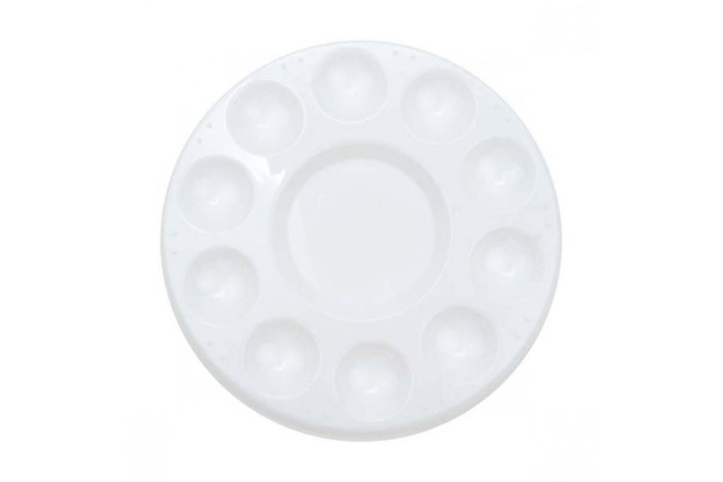 Палитра пластиковая круглая 18 см
