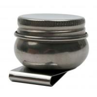 Маслёнка одинарн., металл. с крышкой (d:4,2см), Китай