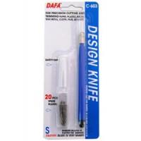 Нож макетный DAFA С-603 пластиковая ручка 20сменных лезвий