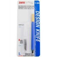 Нож макетный DAFA C-604 пластиковая ручка 8сменных лезвий