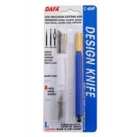 Нож макетный DAFA C-604P пластиковая ручка 8сменных лезвий + 4 насадки