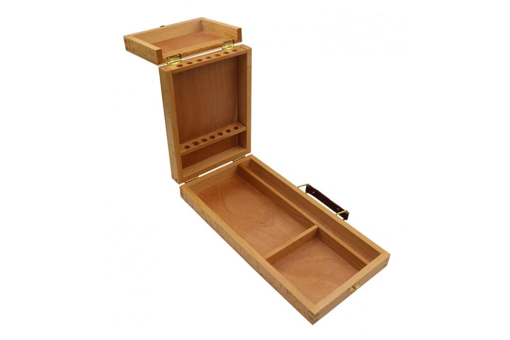 Пенал-этюдник акварельный деревянный 33х16,5х5 см