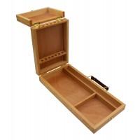 Пенал-этюдник акварельный деревянный 33х16,5х5см